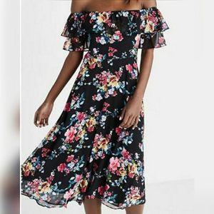 Express Floral midi dress. Size 4.
